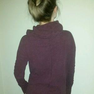 Lululemon maroon cowl neck/ hood pullover tunic
